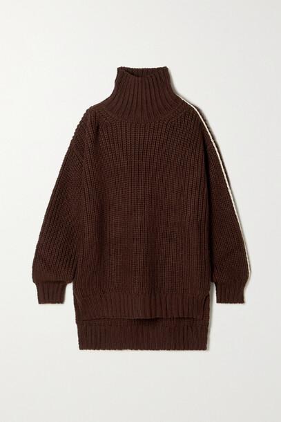 Peter Do - Debra Ribbed Wool Turtleneck Sweater - Burgundy