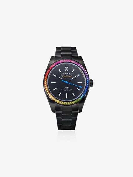 MAD Paris Rolex Milgauss 40 MM sapphire stainless steel watch in black