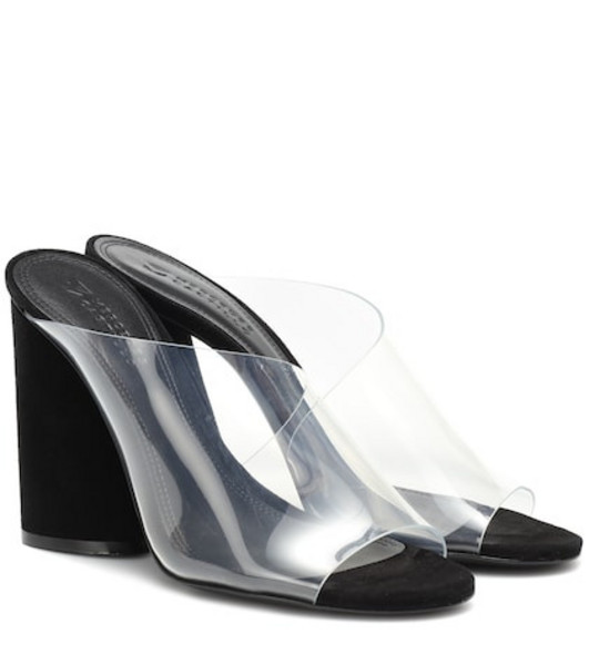 Mercedes Castillo Kuri suede and PVC sandals in black