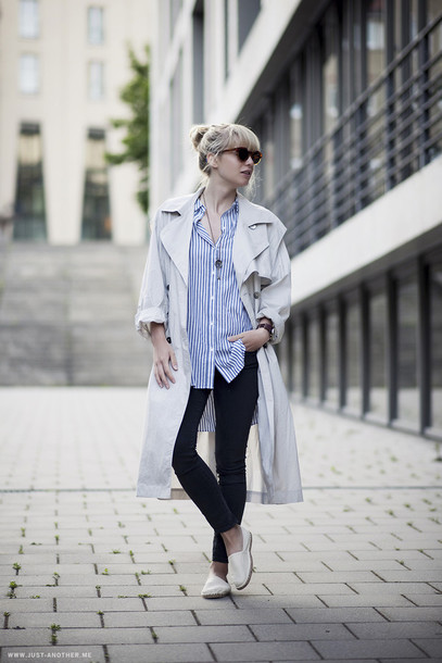 just another me shirt coat jeans sunglasses jewels shoes