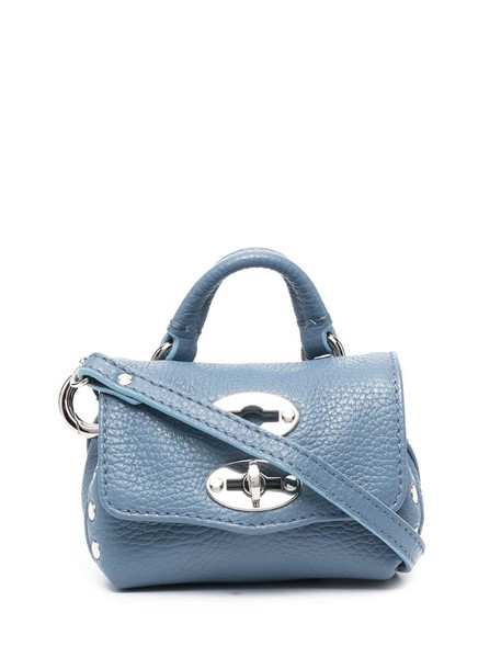 Zanellato Postina pebbled bag in blue