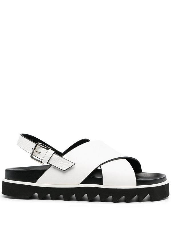 P.A.R.O.S.H. crossover strap sandals in white