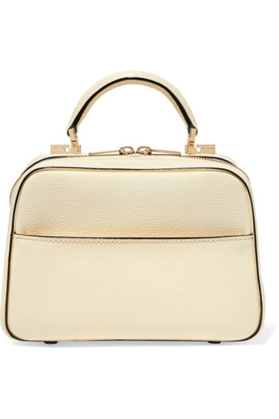 Valextra - Serie S Small Textured-leather Tote - Ivory