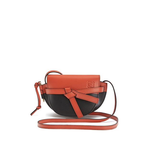 Loewe Mini Gate Colour Block Bag in black