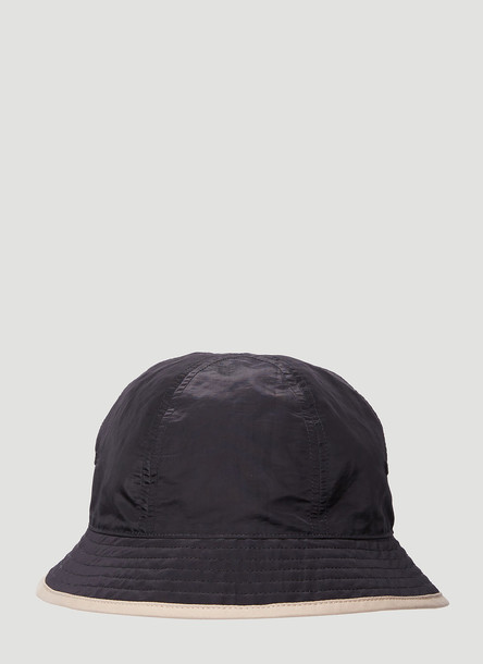 Y-3 Reversible Logo Embroidered Bucket Hat in Black size M