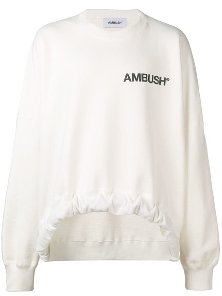 Ambush Contrast Sweatshirt in white