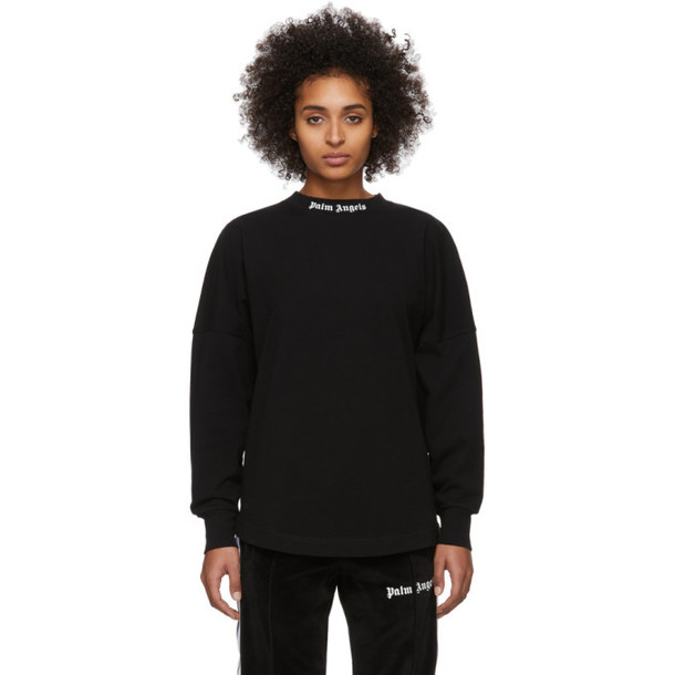 Palm Angels Black Logo Long Sleeve T-Shirt
