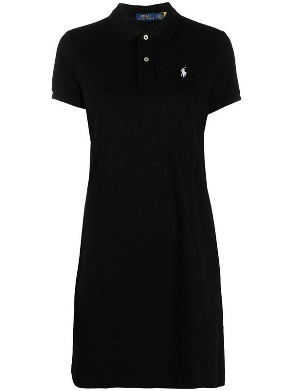 Polo Ralph Lauren logo-appliqué minidress in black
