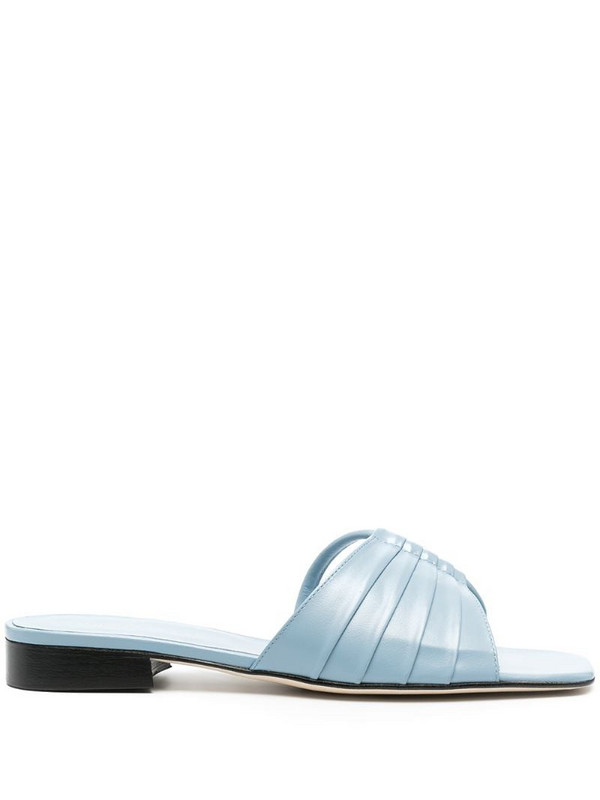 Dorateymur open-toe leather sandals in blue
