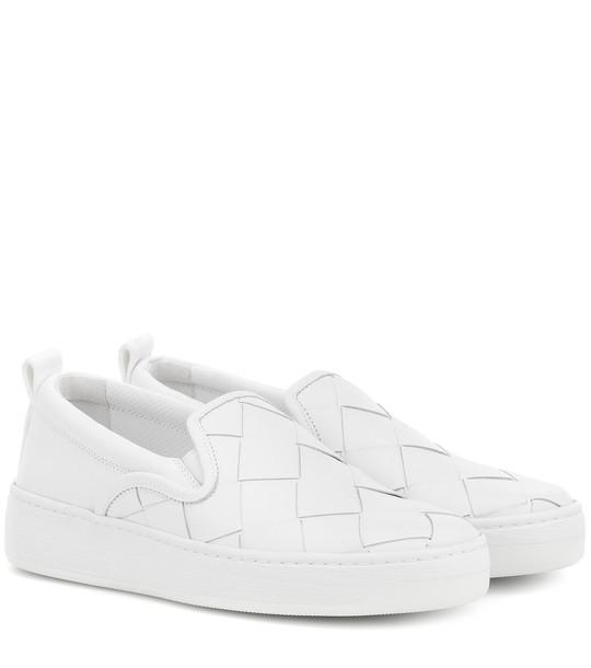 Bottega Veneta Dodger leather slip-on sneakers in white