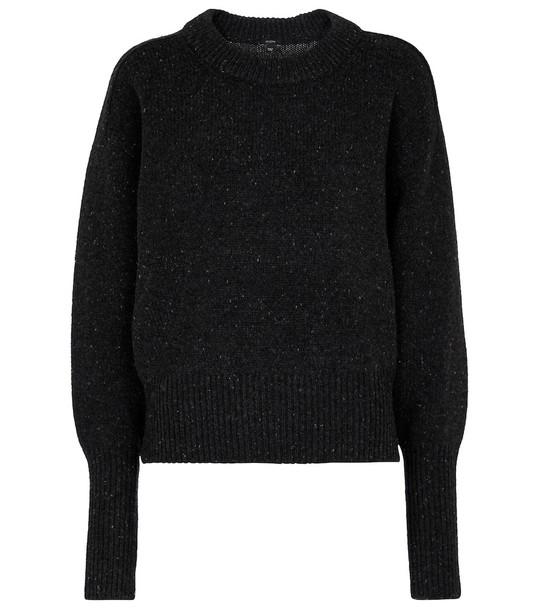 JOSEPH Tweed merino wool sweater in grey