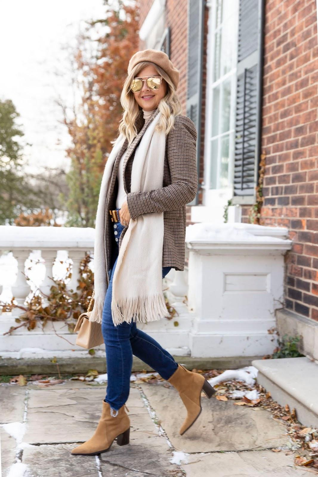 suburban faux-pas blogger jacket jeans belt bag shoes sunglasses beanie ankle boots fall outfits