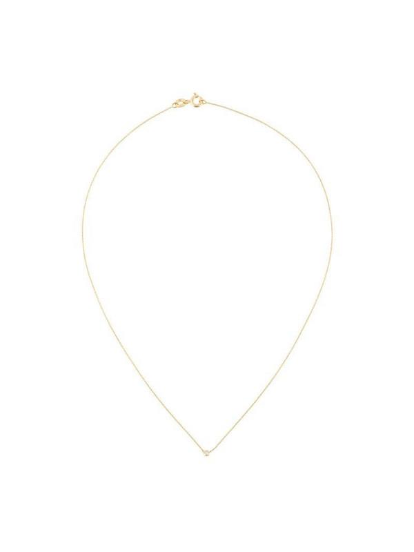 Wouters & Hendrix Gold single diamond short necklace in metallic