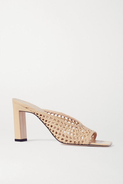 Wandler - Isa Woven Leather Mules - Tan
