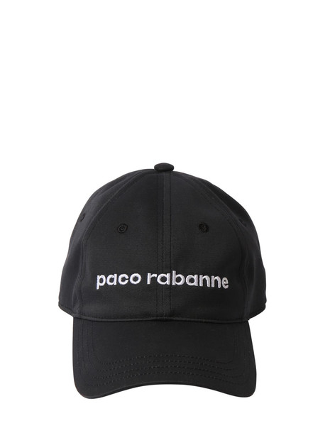 PACO RABANNE Logo Cotton Hat in black