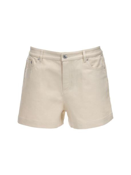 A.P.C. Cotton Denim Shorts in ecru