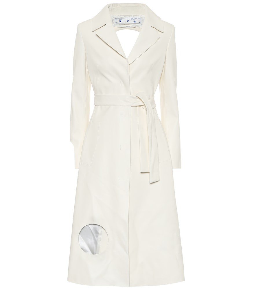Off-White Leather dress in white