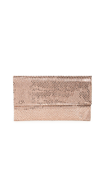 Shashi Flash Clutch in rose