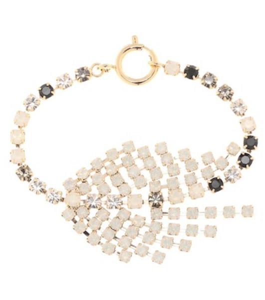 Isabel Marant Aless crystal bracelet in gold