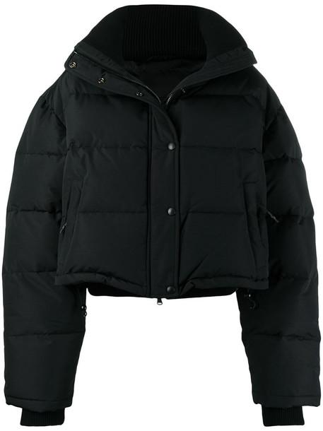 WARDROBE.NYC cropped puffer jacket in black