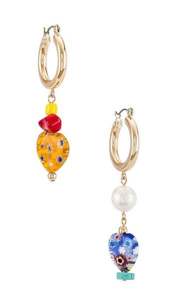 DANNIJO Arlo Earrings in Metallic Gold in multi