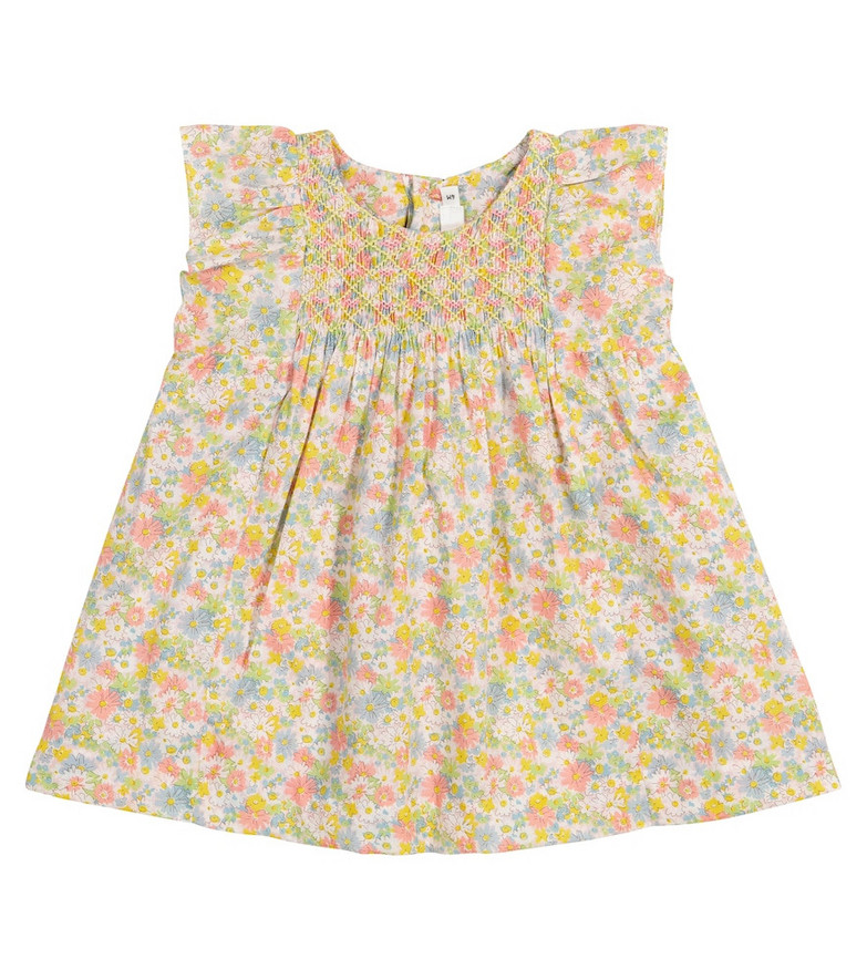 Bonpoint Baby Calais Liberty floral cotton dress in yellow