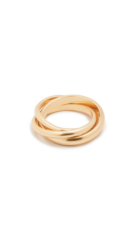 Madewell Rolling Ring in gold