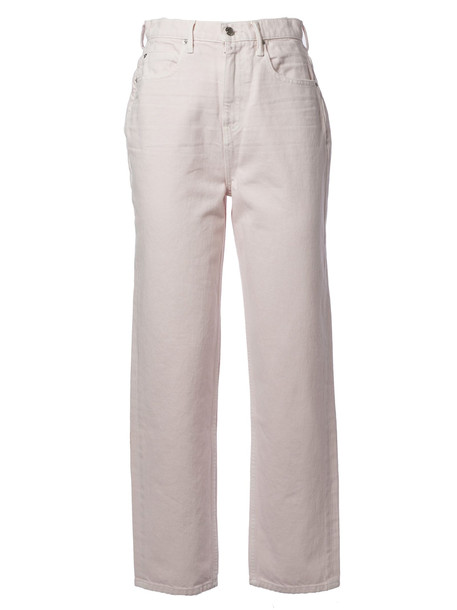 Alexander Wang High-rise Straight-leg Jeans in pink