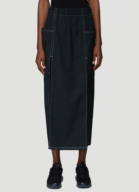 Laerke Andersen Multiple Split Skirt in Black size JPN - 2