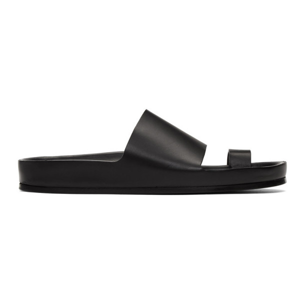 Jil Sander Black Single Toe Strap Sandals