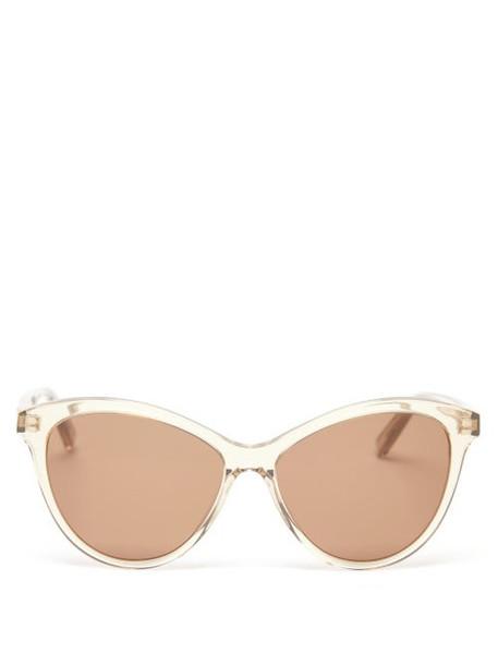 Saint Laurent - Cat-eye Acetate Sunglasses - Womens - Clear