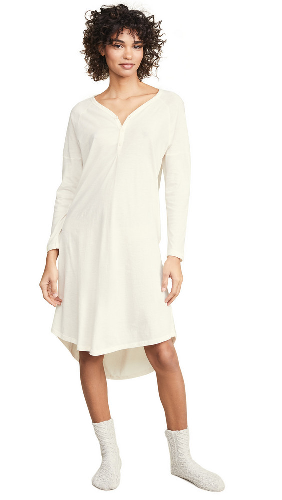 THE GREAT. THE GREAT. Sleep Nightshirt Dress in white