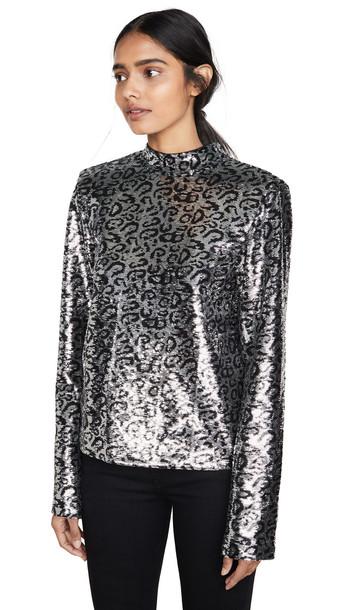 RtA Freddie Top in silver / leopard