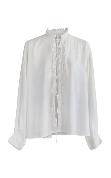 Alix of Bohemia Kiki Crochet Cotton Shirt in neutral