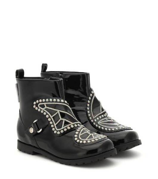 Sophia Webster Mini Karina leather ankle boots in black