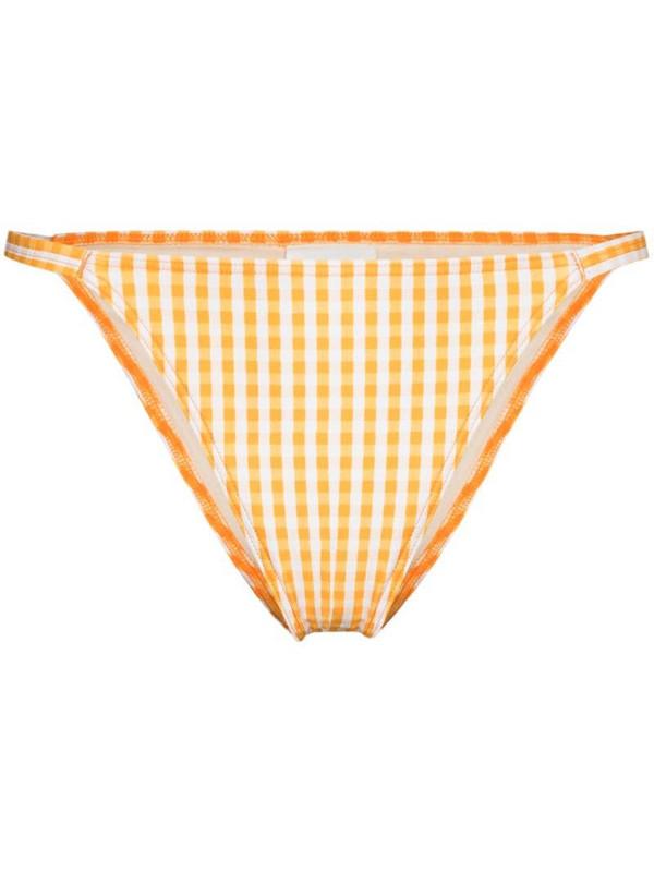 Peony Holiday gingham bikini bottoms in orange