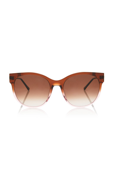 Thierry Lasry Axxxexxxy 69 Cat-Eye Acetate Gold-Tone Sunglasses in brown