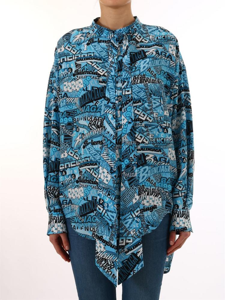 Balenciaga Shirt Swing Shape in blue