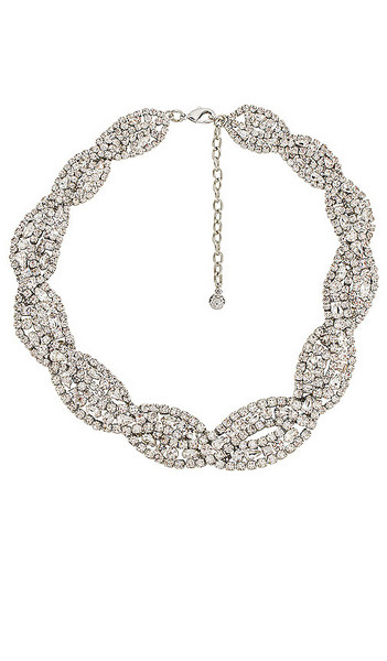 BaubleBar Supernova Necklace in Metallic Silver in clear