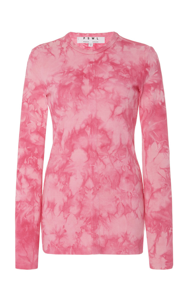 Proenza Schouler PSWL Tie-Dye Stretch-Cotton Sweatshirt in pink