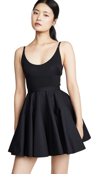 Alexander Wang Poplin Fit and Flare Dress in black