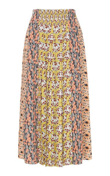 Prada Printed Midi Skirt in print