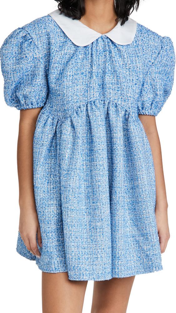 Sister Jane Bubblegum Tweed Mini Dress in blue
