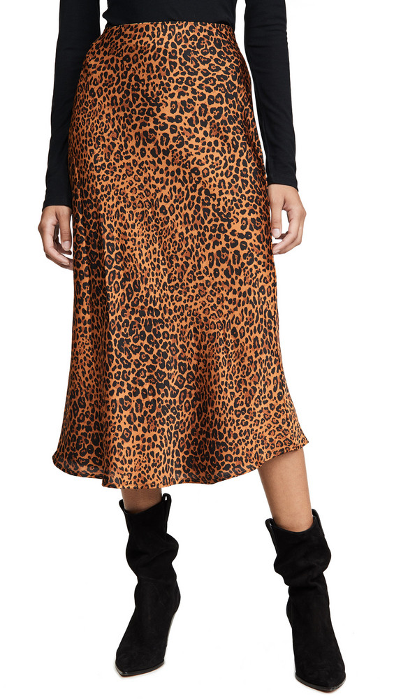 re:named re: named Slip Midi Skirt in brown