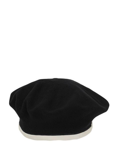 SCHA Flying Duck Cotton Beret in black