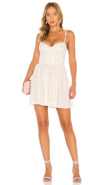 For Love & Lemons Lynne Mini Dress in White