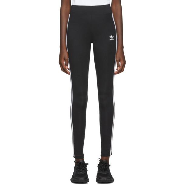 adidas Originals Black 3-Stripes Leggings