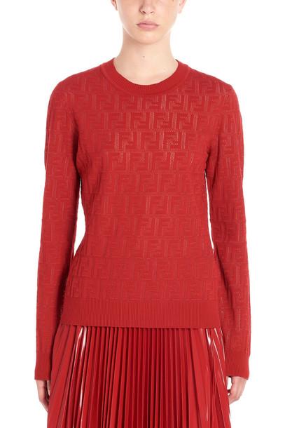 Fendi ff Sweater in red