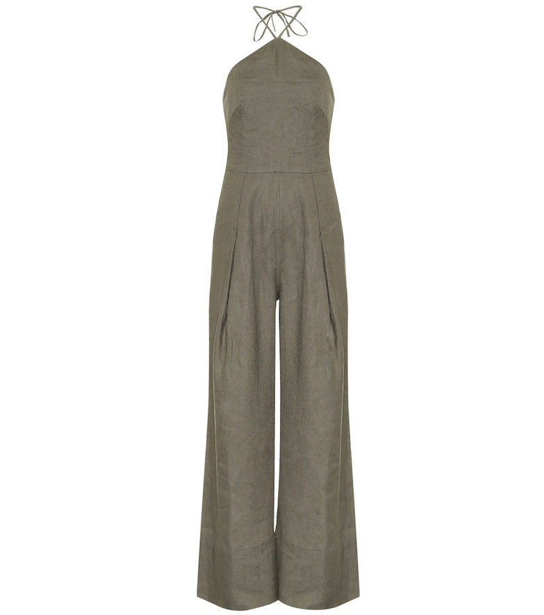 Cult Gaia Yasmina linen jumpsuit in green