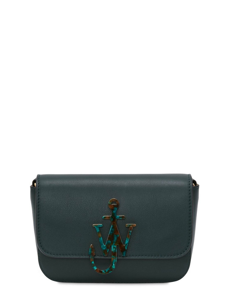 JW ANDERSON Midi Anchor Chain Leather Bag in green